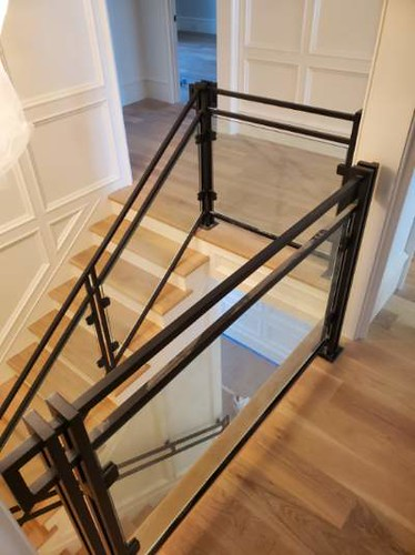 Metal with Glass Stairs