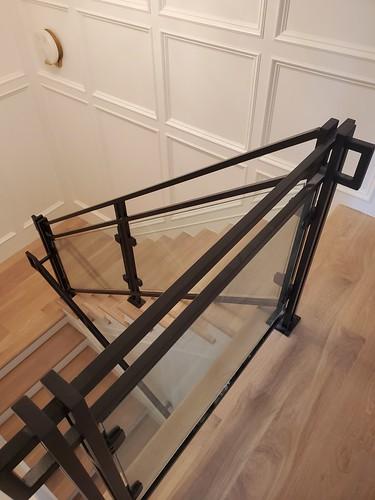 Metal with glass Railings