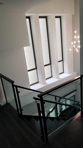 Metal and glass railings