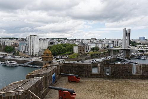 Tour Tanguy vu du haut du musée national de la Marine de Brest