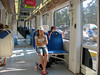 On the tram to Edem Beach