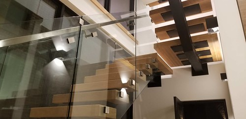 Metal with glass staircase