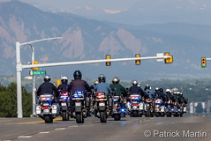 June 29, 2021 - The procession honoring Arvada PD Officer Gordon Beesley. (Patrick Martin)