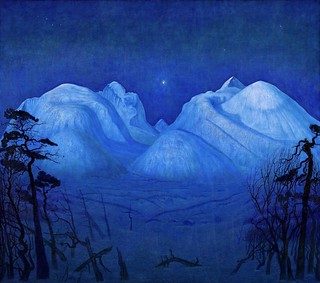 Sohlberg Harald Oskar - Oslo - National Museum of Art, Architecture and Design - Winter Night in the Mountains (1914) (olio su tela 160,4 x 180 cm)