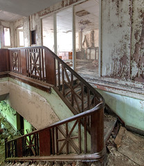 """Abandoned Administration Staircase • <a style=""""font-size:0.8em;"""" href=""""http://www.flickr.com/photos/25078342@N00/51281813834/"""" target=""""_blank"""">View on Flickr</a>"""