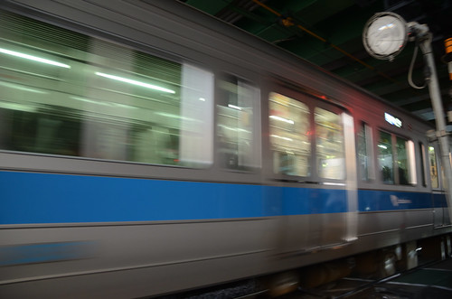 Odakyu 2000 Series at Railroad Crossing under Ring Road No.6 Overpass at the End of 2018: 3