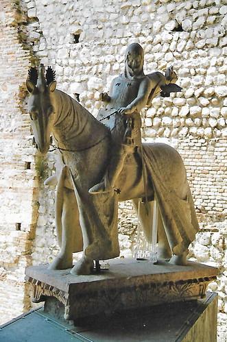Verona, Castelvecchio, Giovanni di Rigino, equestrian statue of Cangrande