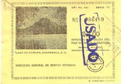 Impuesto por Salida del Pais - Guatemala 1979