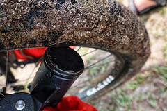 Pedalcell Dynamo hub in the mud