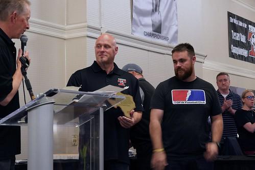 Tornado Foosball reps Jason Wicks & Mike Predergast