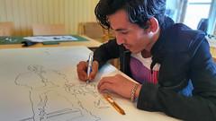 Gatekunstutstillingen Sommerkunst er laget av elever i Innføringsklassen ved Ishavsbyen videregående skole og Perspektivet Museum