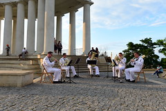 The U.S. Naval Forces Europe Band performs at the Colonnade of Vorontsov Palace during Exercise Sea Breeze 2021.