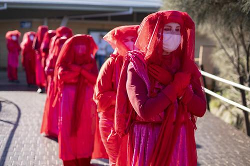 Extinction Rebellion: Red Rebels at the Twelve Apostles against gas exploration
