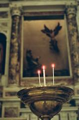 Candles in Basilica della Santissima Annunziata del Vastato