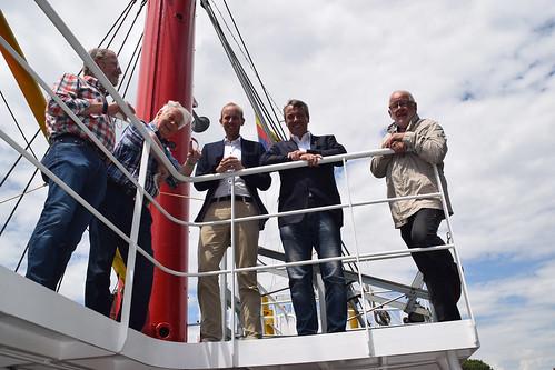 Mit meinem Bundestagskollegen Johann Saathoff habe ich das Feuerschiff in Emden besucht.