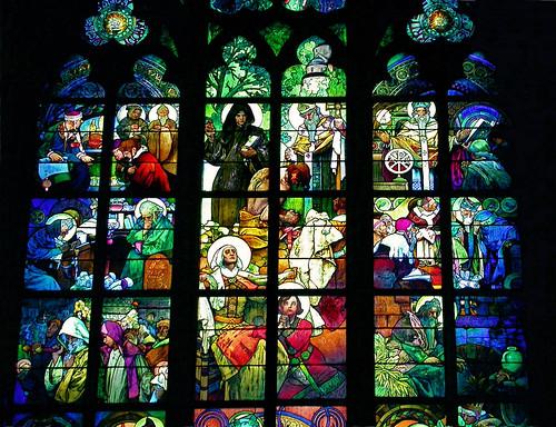 Alphonse Mucha Stained Glass