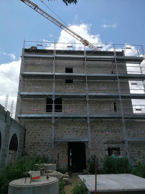 Les travaux de la tour Lacassagne ont trouvé leur rythme de croisière.