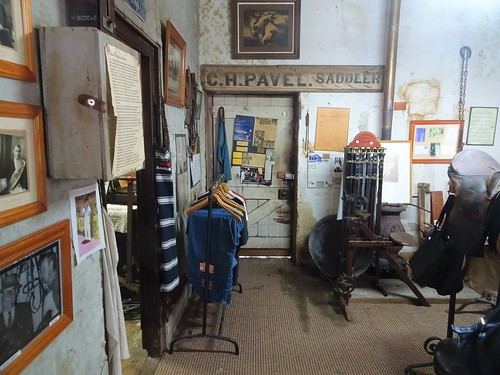 peter - Tenterfield. George Woolnough built this Saddlers Shop in 1860 in granite blocks. His grandson singer writer PeterAllen immortalised it in a song The Tenterfield Saddler. This is the interior