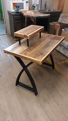 Reclaimed wood desk MM Jul 2021