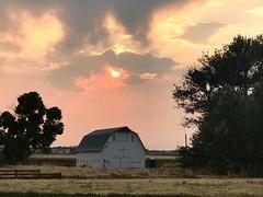 July 12, 2021 - A beautiful but smoky sunset. (Jessica Fey)