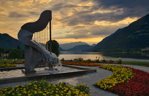 The harp fountain of Ossiach