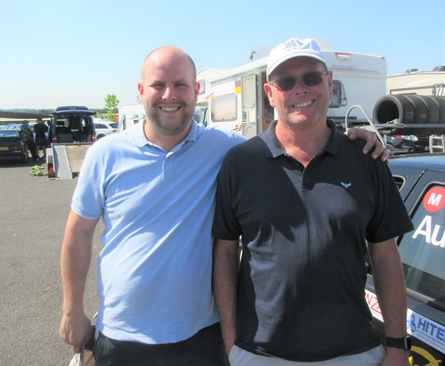 James and Dave Thomas were wlecome visitors to Snetterton
