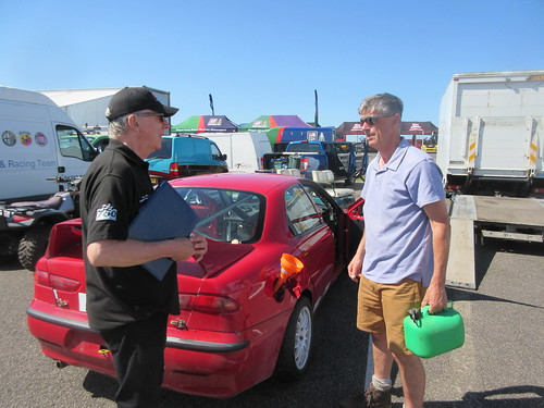 Andy Robinson with Andy Winterton before his first ARCA race