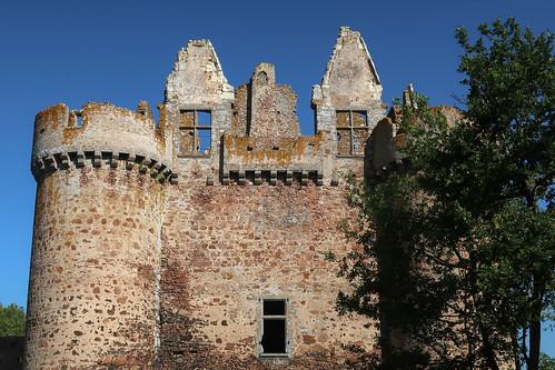 Les ruines du château de l'Ebeaupinay (Argentonnay, 79)