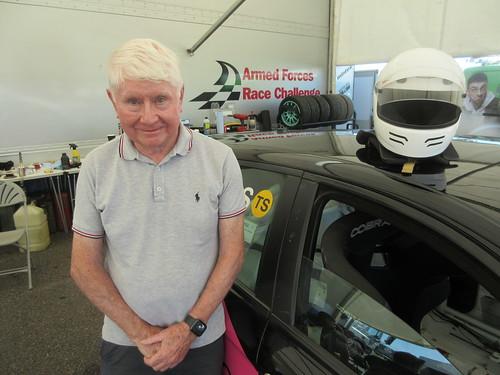 Ron Davidson enjoying a race weekend back with Bianco