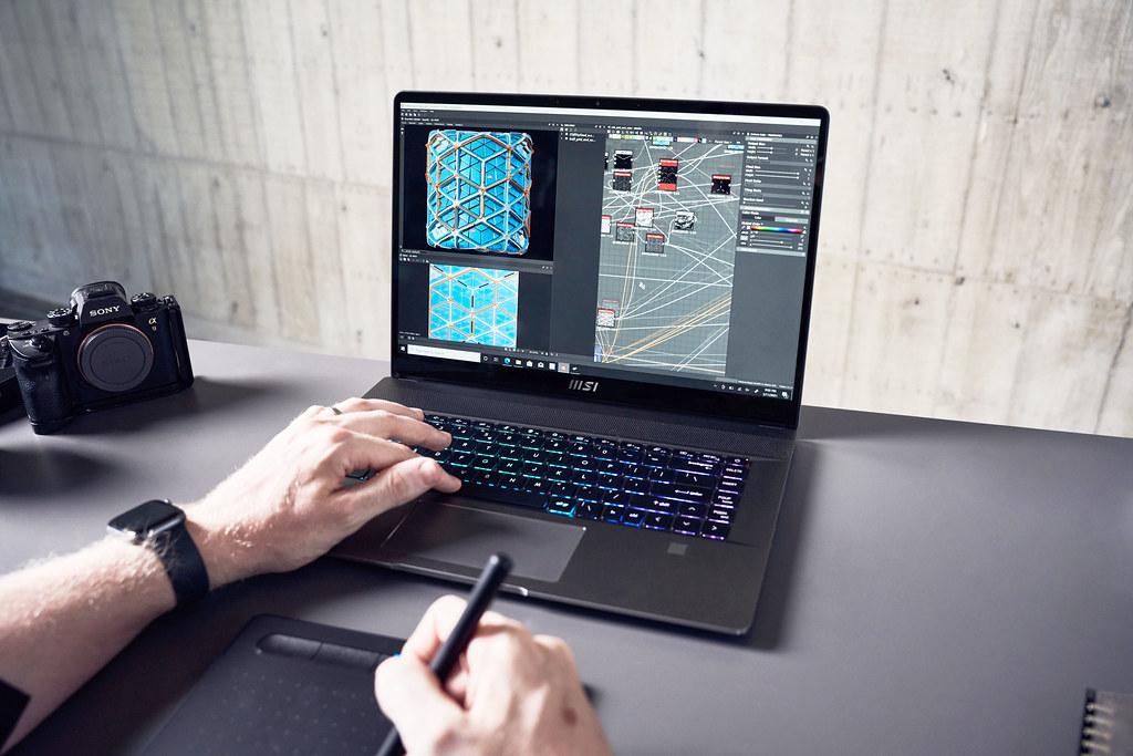 03_Creator Z16採用1610黃金比例的螢幕設計,搭配True Pixel顯示技術能為創作者與設計師提供最精準且鮮明的色彩 (2)