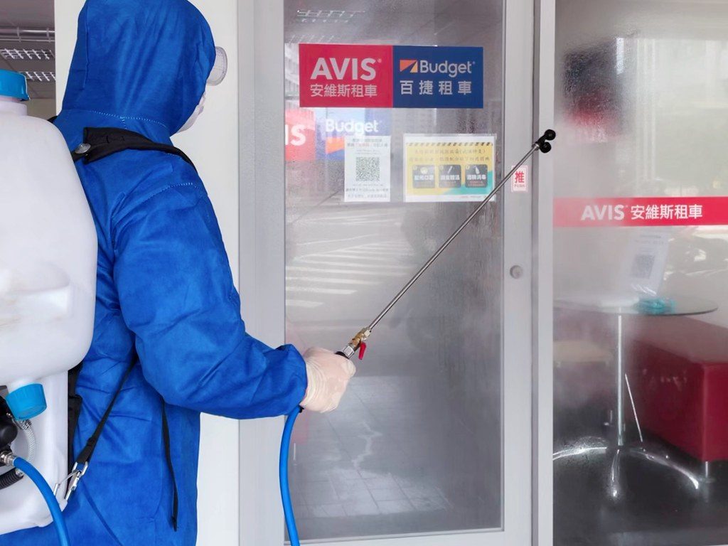 02_AVIS安維斯租車用心防疫不鬆懈,各站點環境定時清潔消毒,同時落實實聯制登記,讓消費者安心用車。