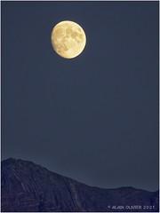 Lever de Lune sur le flysch plissé