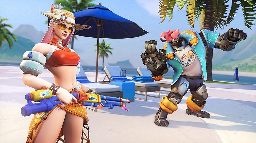 《鬥陣特攻》夏季運動會傳奇造型---泳池風情艾西,清涼解暑等待玩家收集