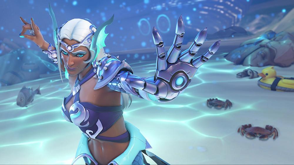 《鬥陣特攻》夏季運動會全新傳奇造型---美人魚辛梅塔,陪玩家消暑解熱