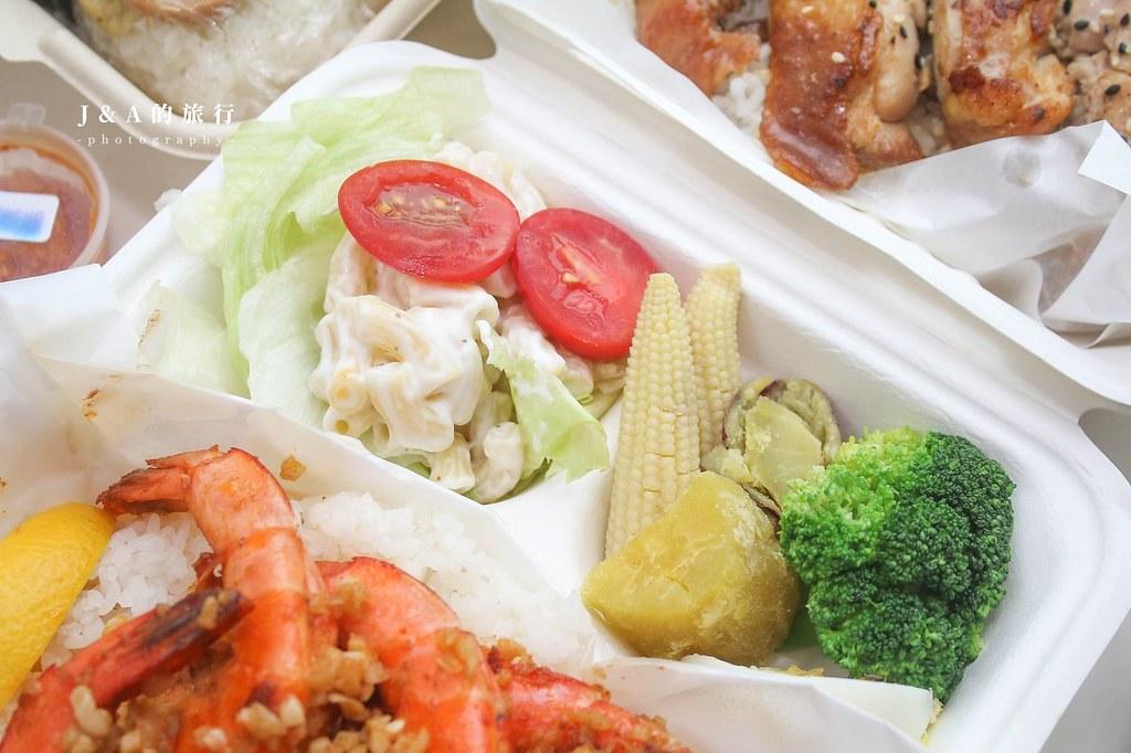 歐嚕歐嚕夏威夷餐盒。香蒜奶油蝦蝦飯香氣十足,充滿夏威夷風情的主題餐廳 @J&A的旅行
