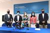Ana Pastor, Javier Bas, Diego Gago y Juan Constenla en rueda de prensa en Pontevedra (23/7/21)