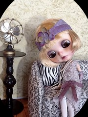 Blythe-a-Day  5. Air Conditioner: Maisie 'Conditions' the Hot Summer Air