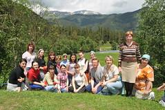 15 Преподаватели и выпускницы Регентской школы в горах Северного Кавказа. 2008 г.