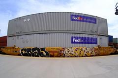Benching Freight Train Graffiti in SoCal (July 24th 2021)