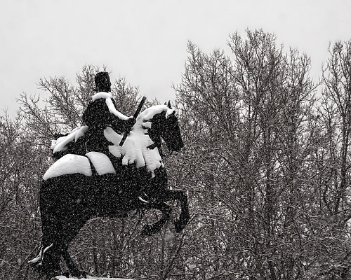 Snowstorm. Philip IV, white and black