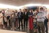 La portavoz del Grupo Parlamentario Popular, Cuca Gamarra, realiza una visita a la catedral del municipio acompañada por los miembros del Consejo de Dirección del Grupo Popular en Santo Domingo de la Calzada (La Rioja) (27/7/21)