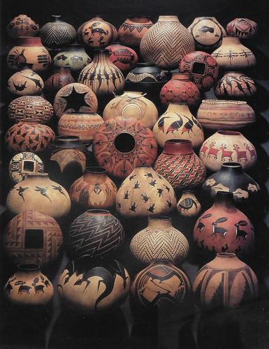 Robert Rivera painted gourds (postcard)