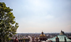 Mexico City skyline in the distance from Guadalupe - Mexico 2020