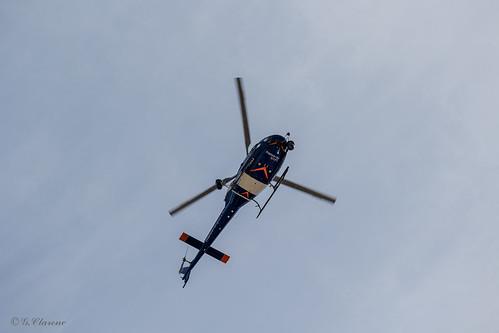 Hélicoptère pendant le tour de France