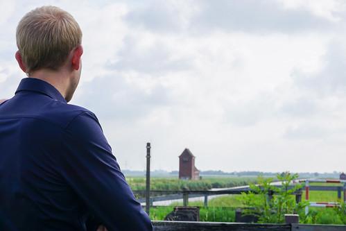 Besuch im Nachbarwahlkreis bei unserer Bundestagskandidatin Anja Troff-Schaffarzyk: Blick auf den Nordgeorgsfehner Kanal.