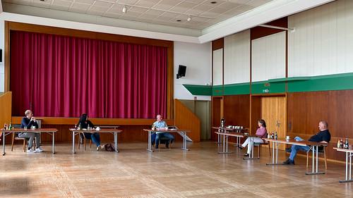 Besuch im Nachbarwahlkreis bei unserer Bundestagskandidatin Anja Troff-Schaffarzyk: Gespräch im Rathaus Jümme.