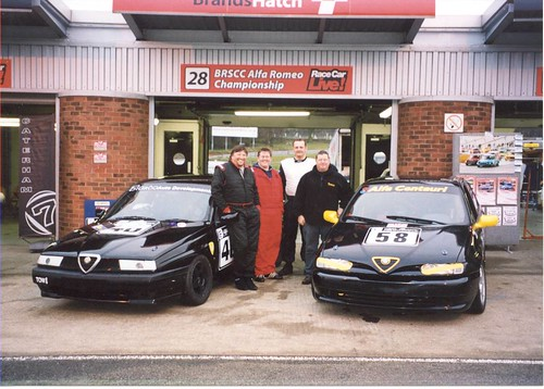 John Day 155 and Nick Suiter 146 at Race Car Live in 2004