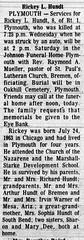 1971-09-10 - Rickey L Hundth killed by car - South Bend Tribune - 10 Sep 1971