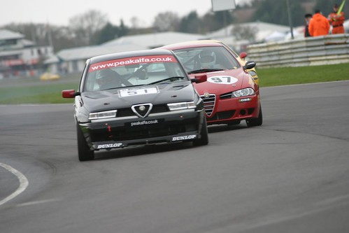 Roger Evans leads Neil Smith at Castle Combe 2004