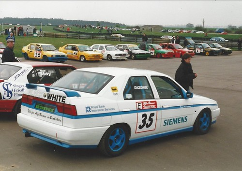 Tim Dackombe's 155 in Snetterton assembly area 1999 Photo Jonathan Griffin
